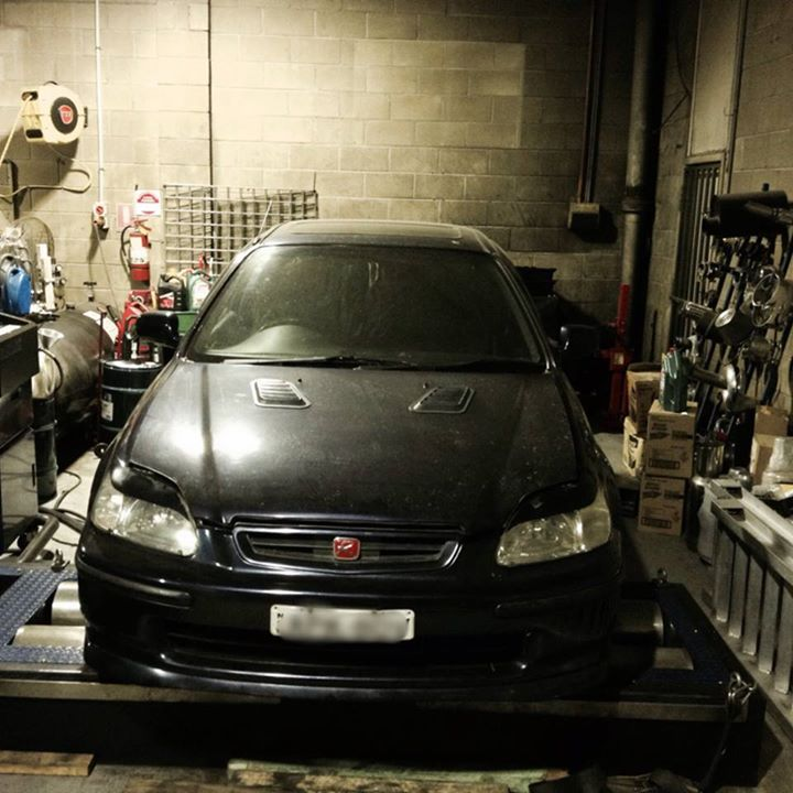 "after custom cat back  2.5"" exhaust system, we installed Hondata S300/Tune made 141kw@7800RPM  #honda #civic #ek"